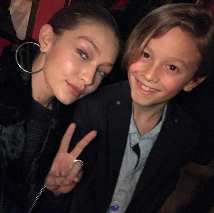 Gigi Hadid、Hudson Kroenig。圖/擷自instagram