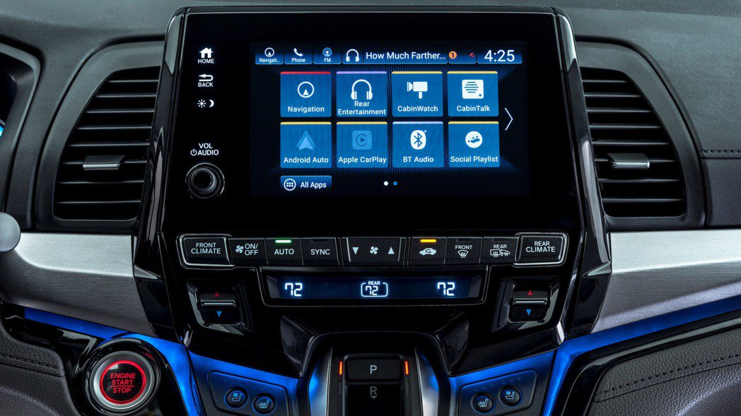 可支援 Apple Carplay、Android Auto 功能的 8 吋觸控...