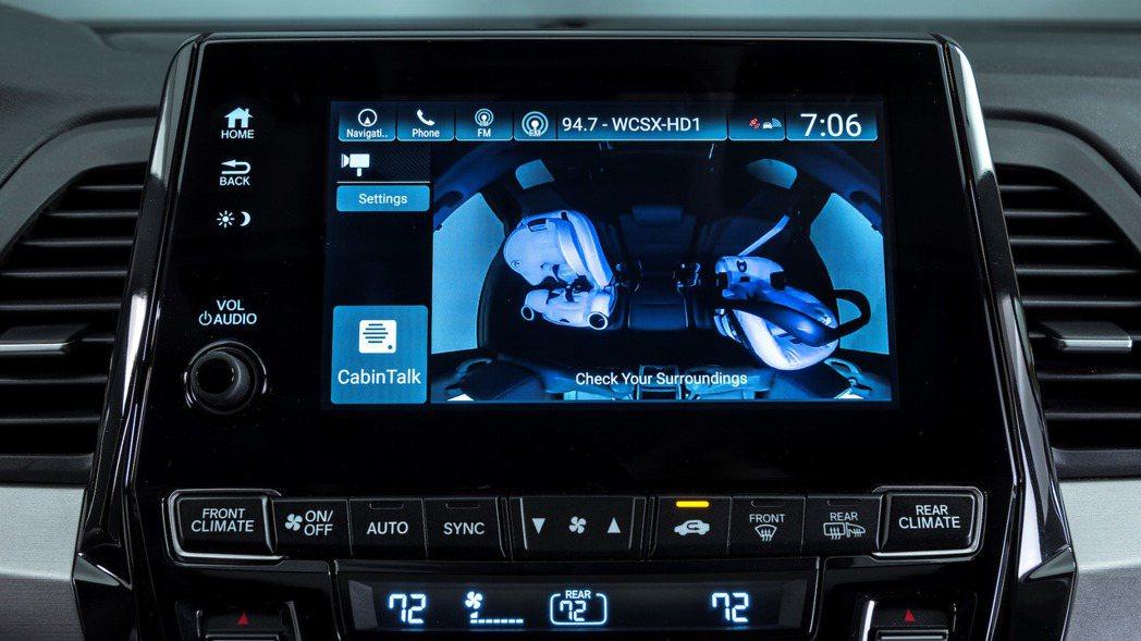 Cabin Watch 車室監控對有小朋友的車主來說相當貼心。 摘自 Honda