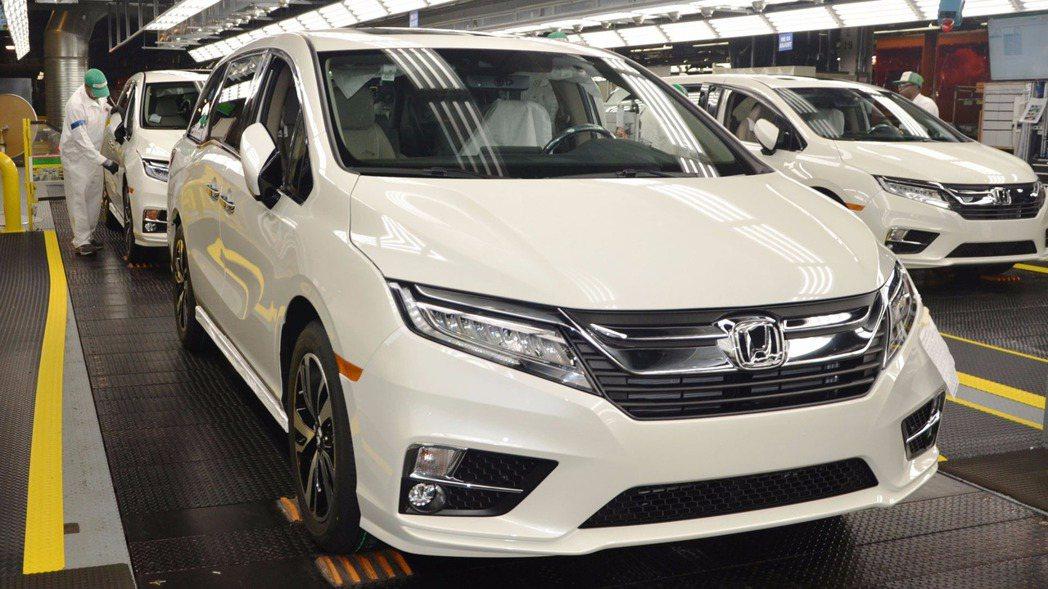 全新 2018 年式美規 Honda Odyssey 已於本田阿拉巴馬州工廠(HMA)開始生產製造 摘自 Honda