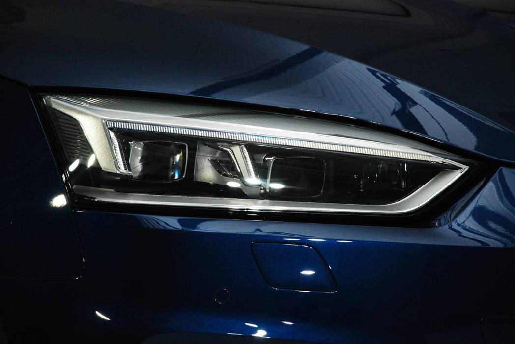 新世代Audi A5 Sportback Sport頭燈採用LED。圖/記者林昱丞攝影