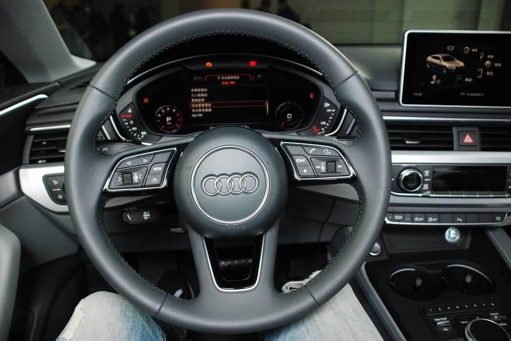 新世代Audi A5 Sportback Sport駕駛艙。圖/記者林昱丞攝影