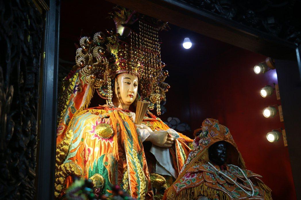 汐止濟德宮供奉的媽祖是台灣少見的軟身媽祖,高1.5公尺。 記者陳珮琦/翻攝
