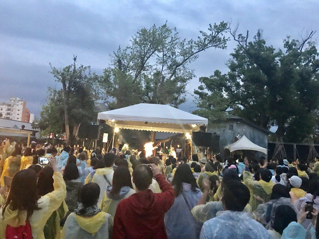 盧廣仲上周末在台中和台東兩地開唱,歌迷熱情。圖/添翼創越提供