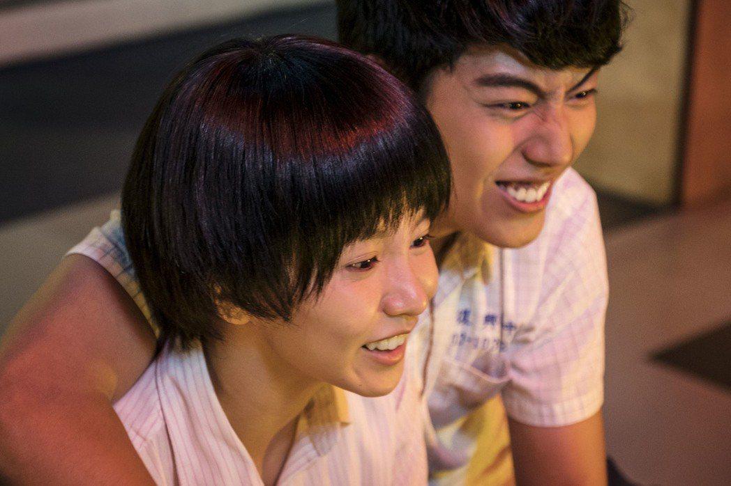 郭書瑤抗議帥到男主角蔡凡熙。圖/HBO Asia、公視提供