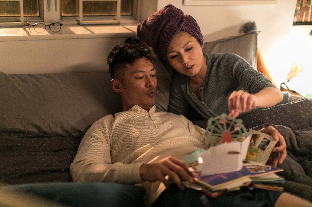 電影《春嬌救志明》女主角楊千嬅(右)與男主角余文樂(左)首度上演床戲。華映娛樂提