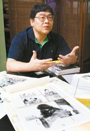 漫畫家鄭問今年3月26日因心肌梗塞猝逝,享年58歲。 (圖/本報資料照片)
