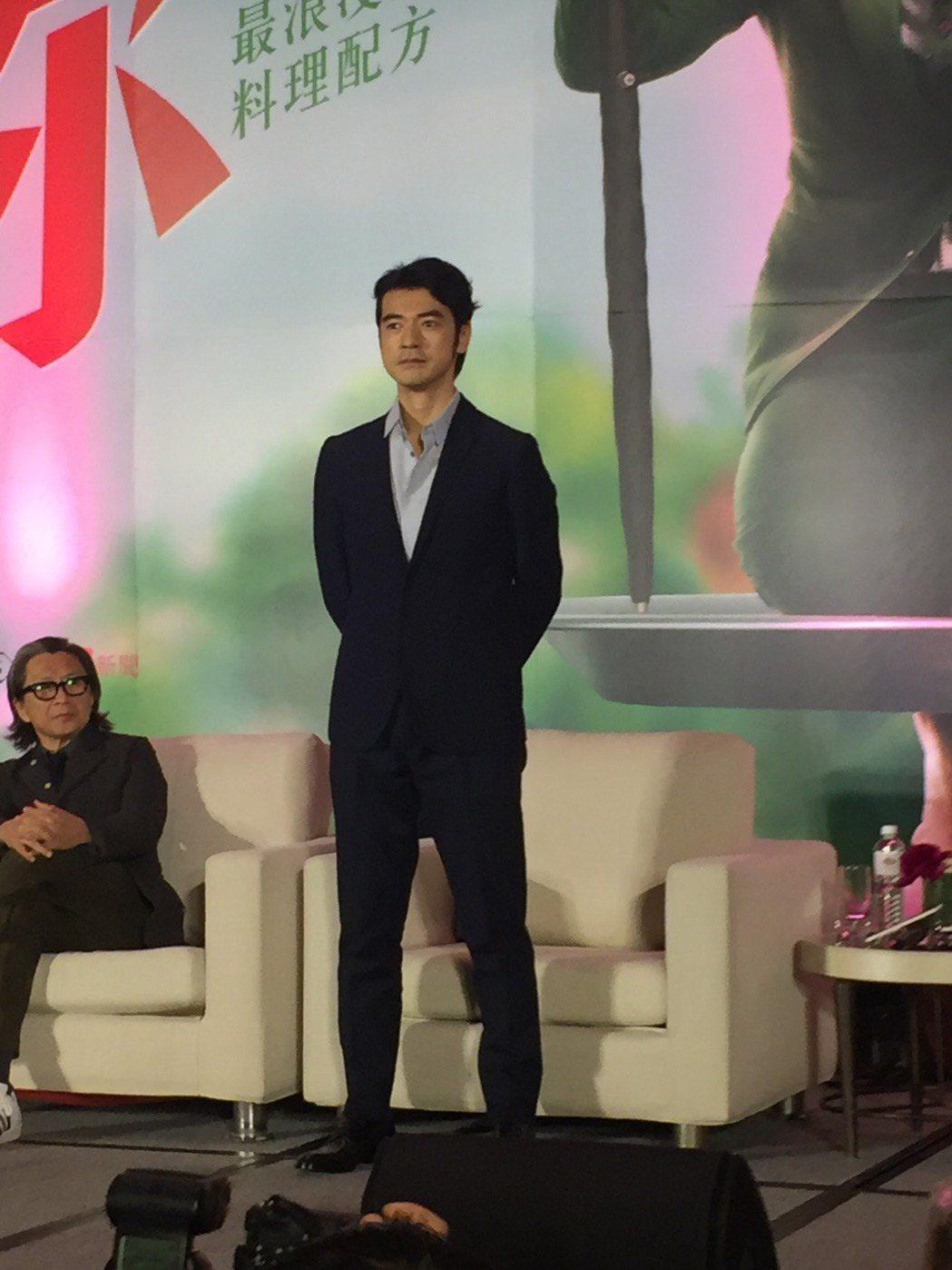 金城武出席台灣「喜歡你」媒體記者會。圖/記者陳建嘉攝