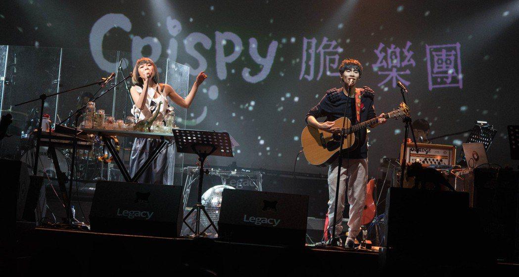 Crispy樂團開唱。圖/索尼提供