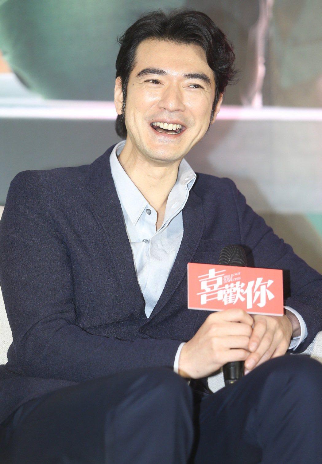 金城武昨天下午出席電影「喜歡你」記者會。記者黃威彬/攝影