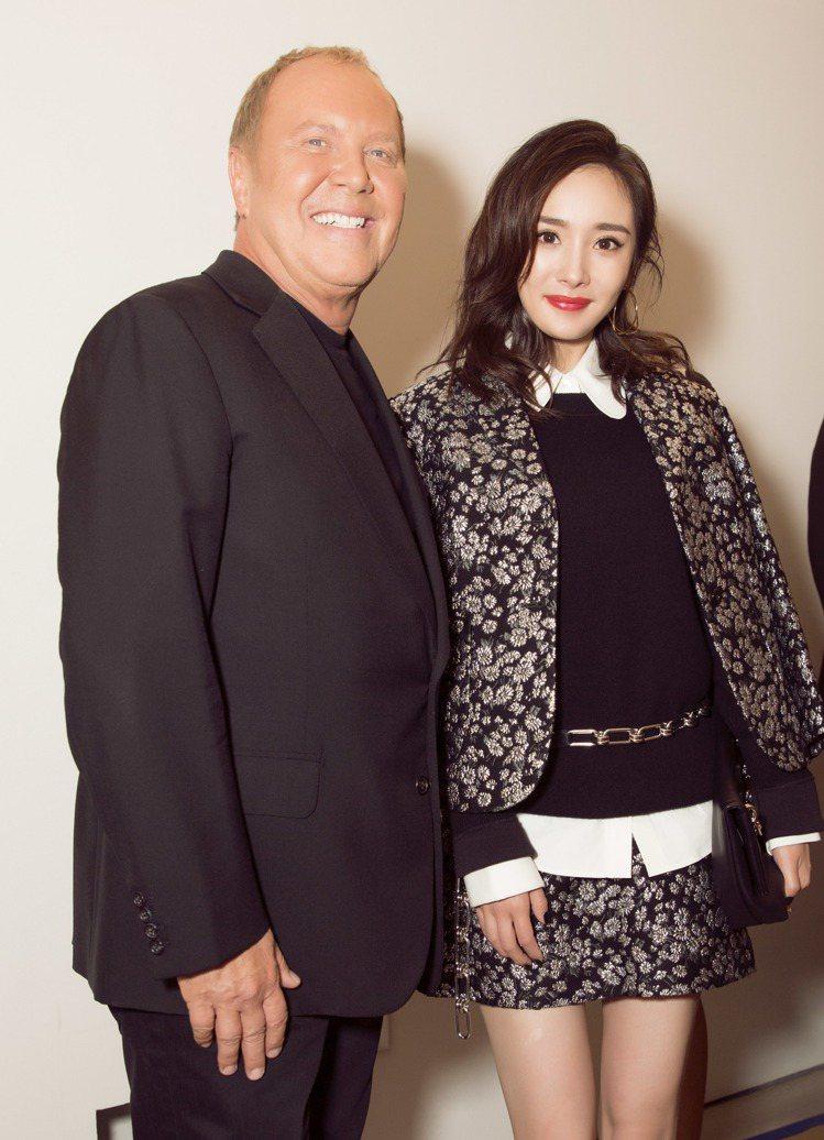 設計師Michael Kors邀請楊冪出席2017紐約Met Gala。圖/MI...