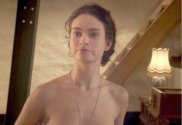 「灰姑娘」莉莉詹姆斯也在新片中為藝術犧牲。圖/摘自Daily Mail