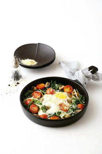 菠菜蘑菇溫沙拉