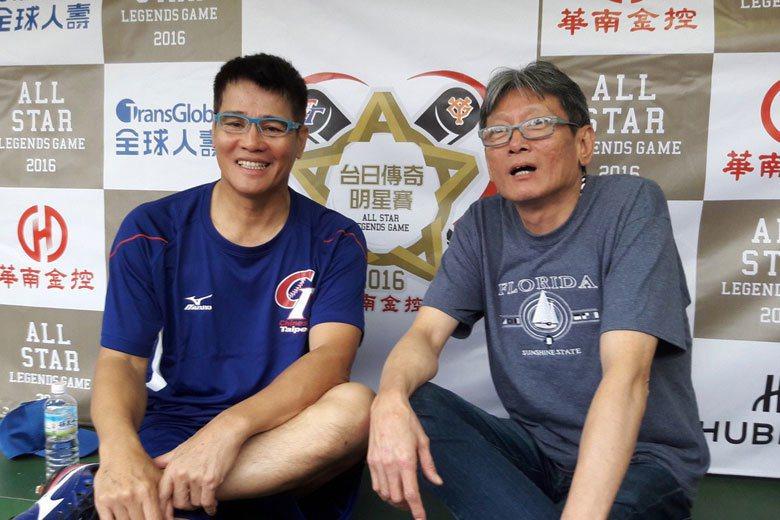 旅日退役名將郭源治(左)、郭泰源加入日職時,剛好中日龍和西武獅都是當時的一級強隊...