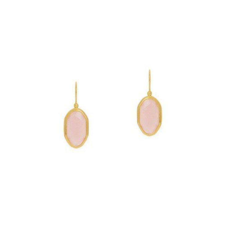 玫瑰石英耳環,11,000元。圖/agete提供