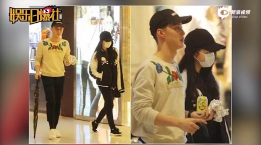 香港媒體拍到,邱淑貞大女兒沈月與一位帥氣的高大男生約會。圖/截自新浪視頻