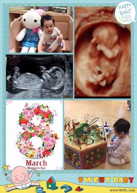 伊正PO出二女兒的超音波照。圖/摘自臉書