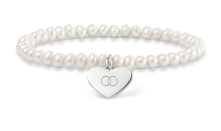 母愛無限珍珠純銀雕刻手鍊,4,280元。圖/THOMAS SABO提供
