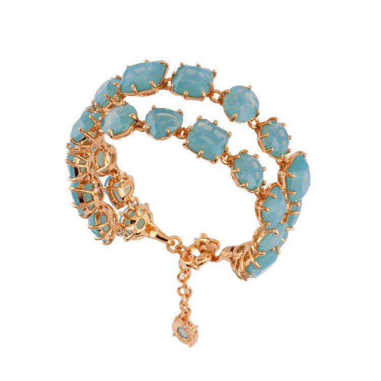 星鑽系列雙層手環,11,500元。圖/Les Néréides提供