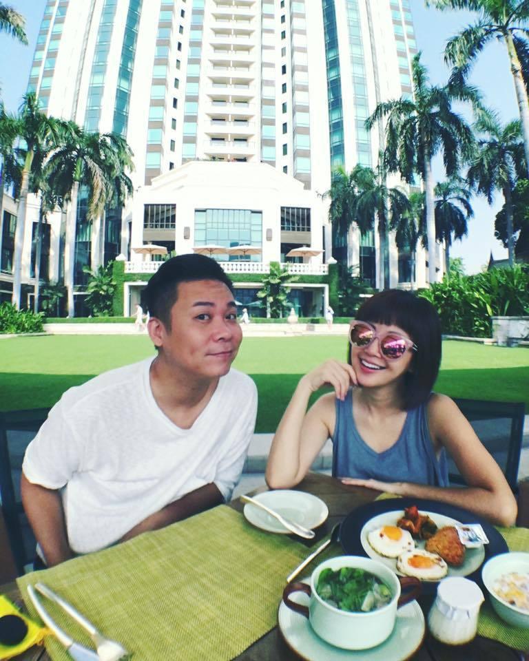 孫樂欣(左)和老婆鍾欣怡日前在泰國度假。圖/摘自孫樂欣臉書