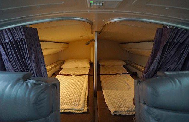 機組員的臥鋪空間不大。 圖/摘自每日郵報