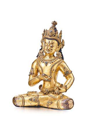 《13-14世紀銅鎏金金剛薩埵像》 門得揚拍賣/提供