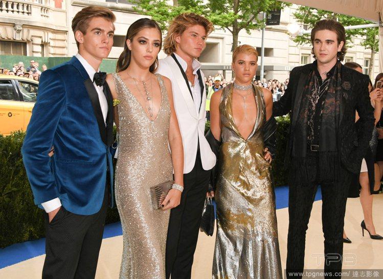 (左至右)Presley Gerber、Sistine Stallone、Jor...