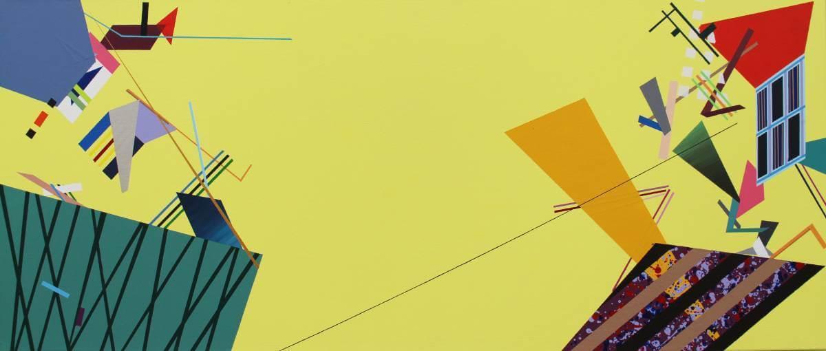 林俐君《捉迷藏》,壓克力顏料105x45x5,2016。