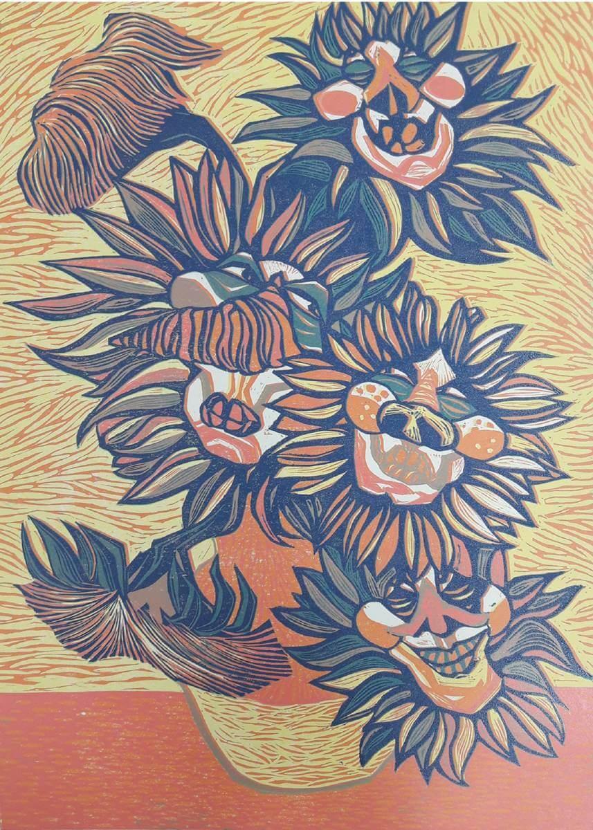 古曉婷《悖心》,版畫37.5x52.1,2015。