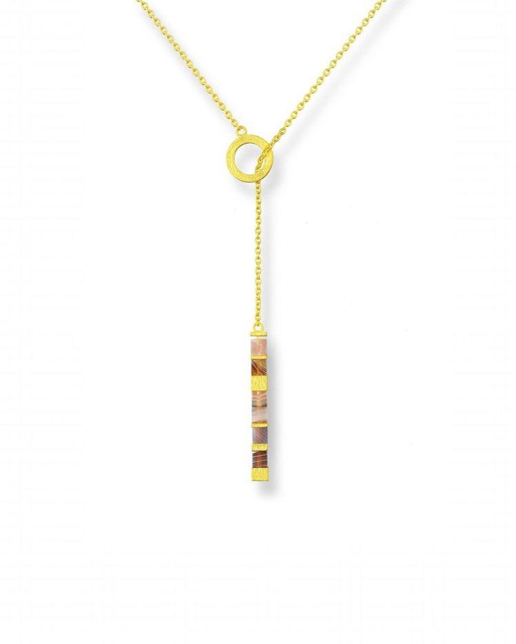g* COLLECTION 999.9黃金瑪瑙項鍊,29,500元。圖/點睛品提...