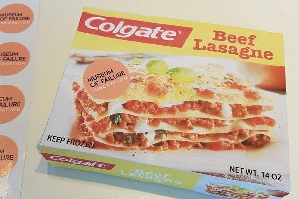牙膏大廠高露潔曾經推出速食千層麵。圖片來源/鏡報