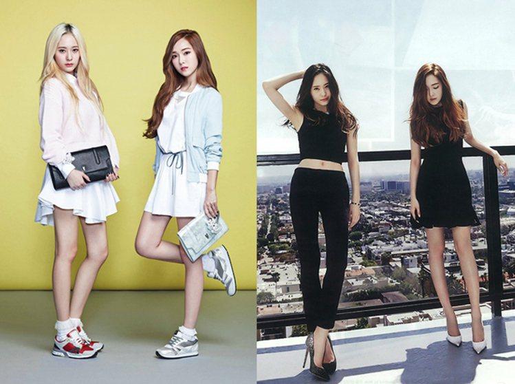 Krystal與Jessica多次一起為時尚品牌拍攝畫報。圖/擷自twitter