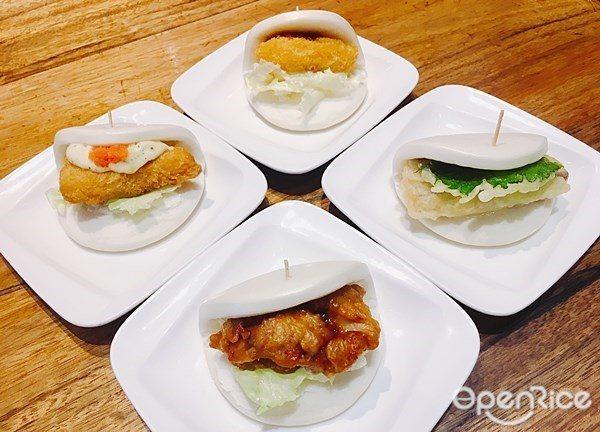 ▲「刈包系列」,將紐約一風堂的小點料理推進台灣,共有5種口味,分別為:叉燒、蔬食...