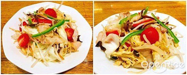 ▲「豚肉炒野菜」,則為中國一風堂的小點料理,將豬肉豐富的口感與甜味,搭配上3至4...