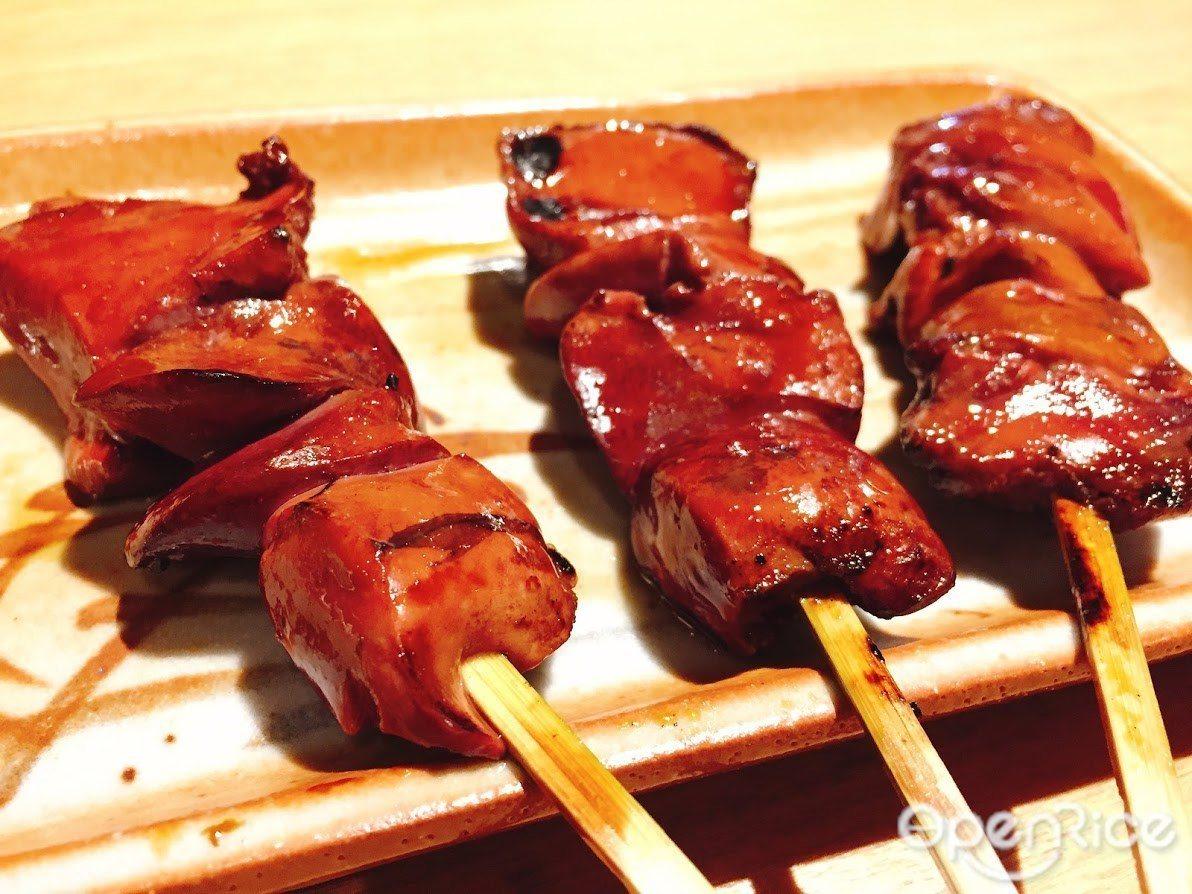 ▲軟嫩的雞肝是日本人最愛的燒物之一