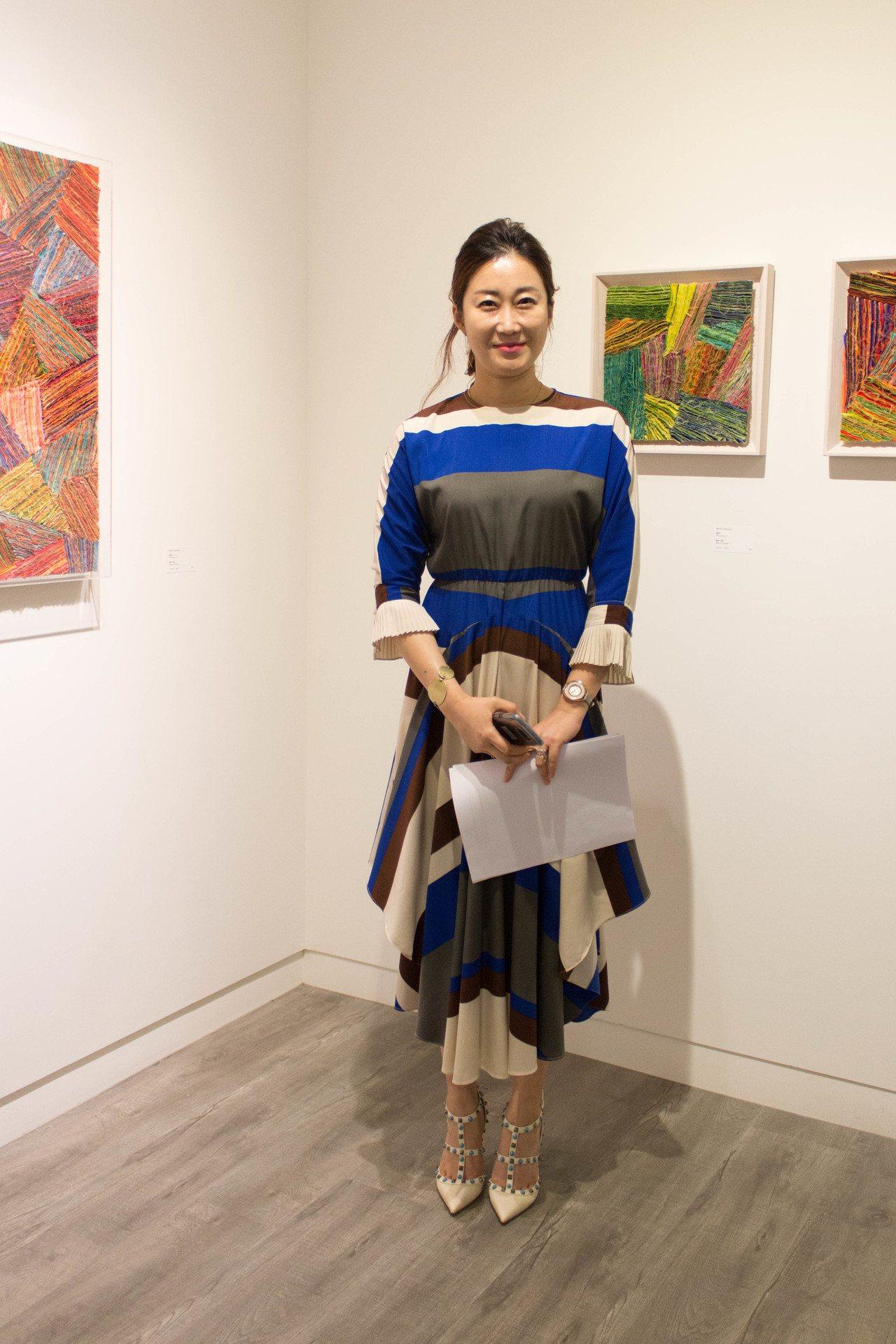 南韓織品藝術家具祉良。圖/非池中藝術網攝。