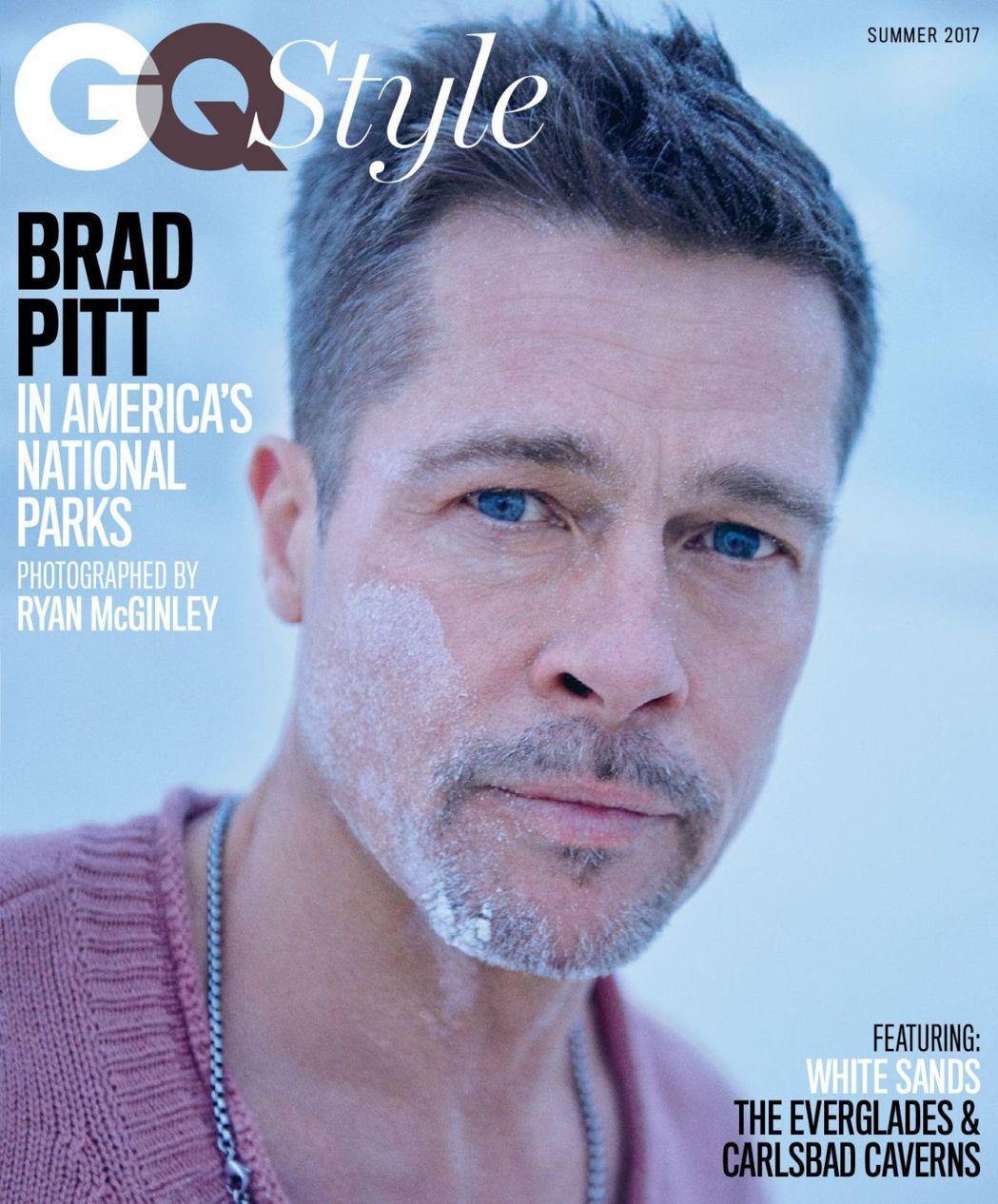 布萊德彼特婚變後首度登上GQ封面。圖/取自GQ