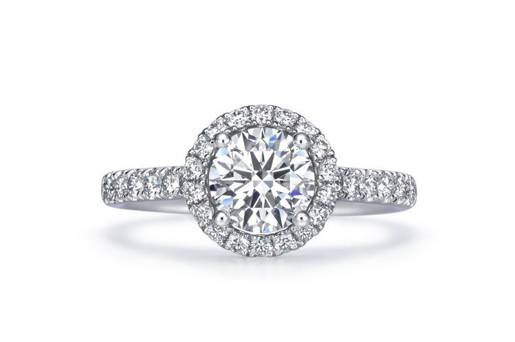 Infini Love Diamond婚嫁系列900鉑金鑽石戒指,主石50分約1...