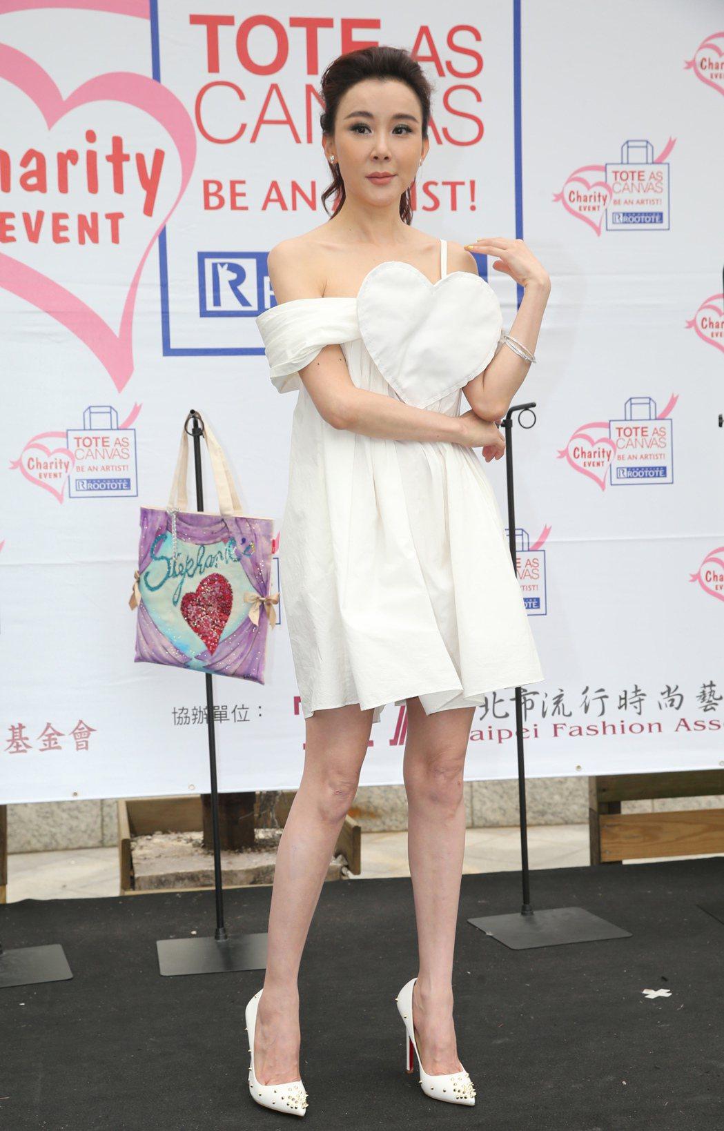 藝人蕭薔出席7屆ROOTOTE Charity Event公益創作包包慈善義賣記...