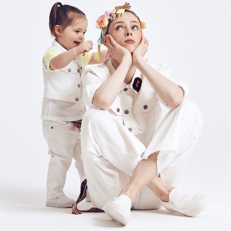 Coco Rocha 與女兒 Ioni。圖/擷自instagram
