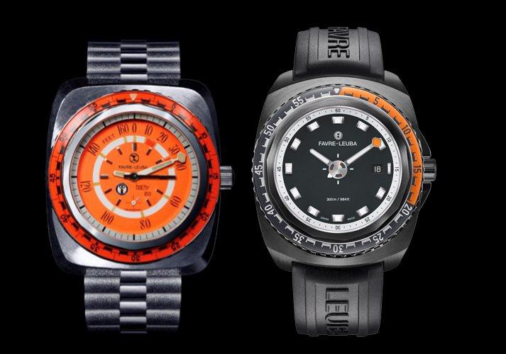 如今的Favre-Leuba域峰表的設計源於品牌七零年代潛水錶的特徵。 圖/瑞博...