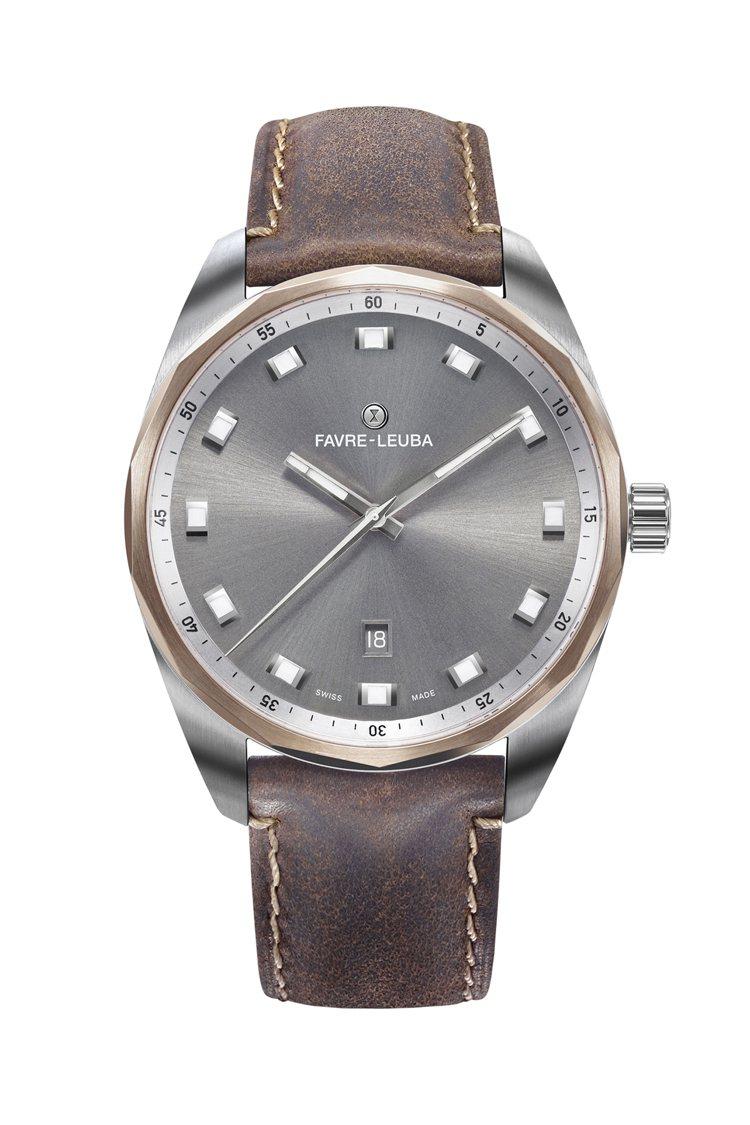 十四邊形錶圈是Favre-Leuba域峰表的經典特色,如今完整保留,不單Raid...
