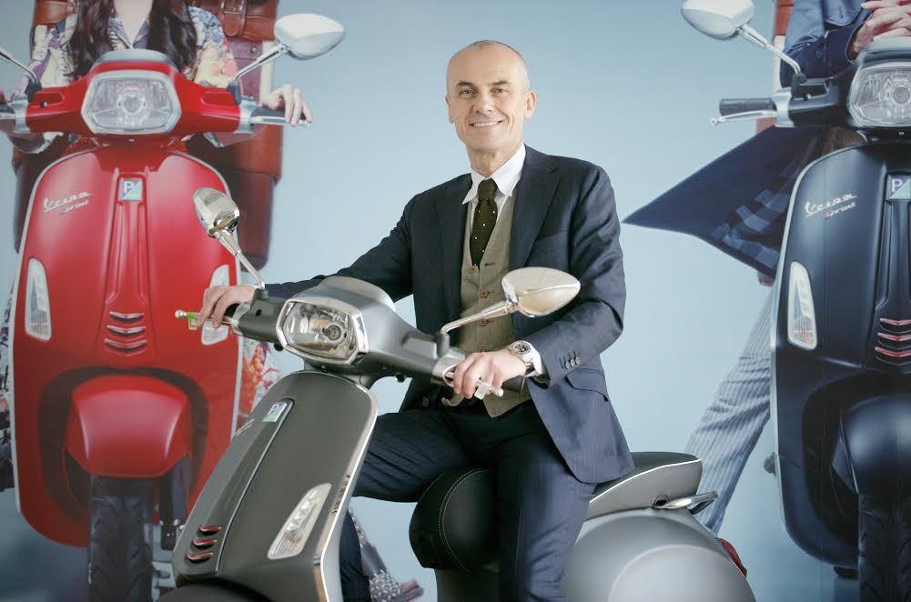 Gianluca Fiume接任PIAGGIO集團主席、總經理與亞太地區二輪機車執行副總等職。 PIAGGIO提供