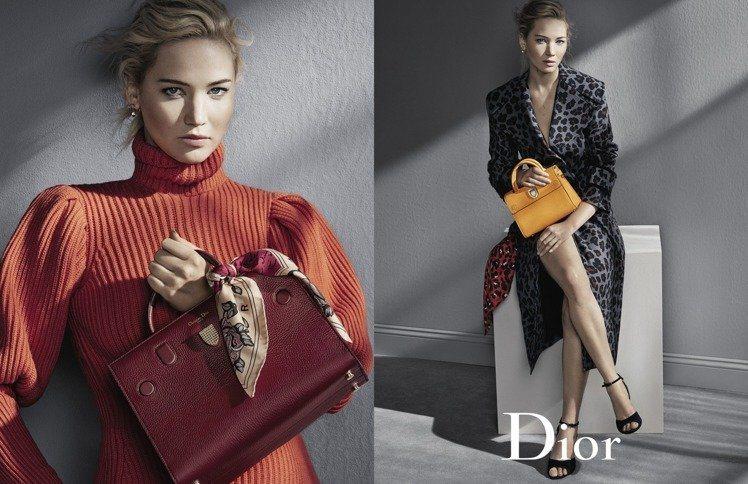 珍妮佛勞倫斯性感造型。圖/Dior提供