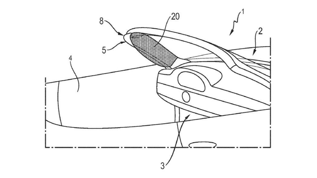 Porsche 設計的這款輔助氣囊在爆開時將會沿著 A 柱展開。保時捷測試後也發現,這款 A 柱氣囊將有助於車輛在受到撞擊時車內乘員向前位移至側邊的傷害。 摘自 Carscoops