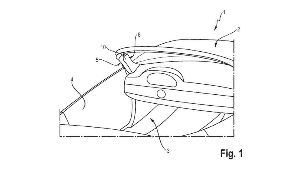 Porsche 設計出一款 A 柱氣囊裝置,不是只有敞篷車,所有車款也能使用。 摘自 Carscoops