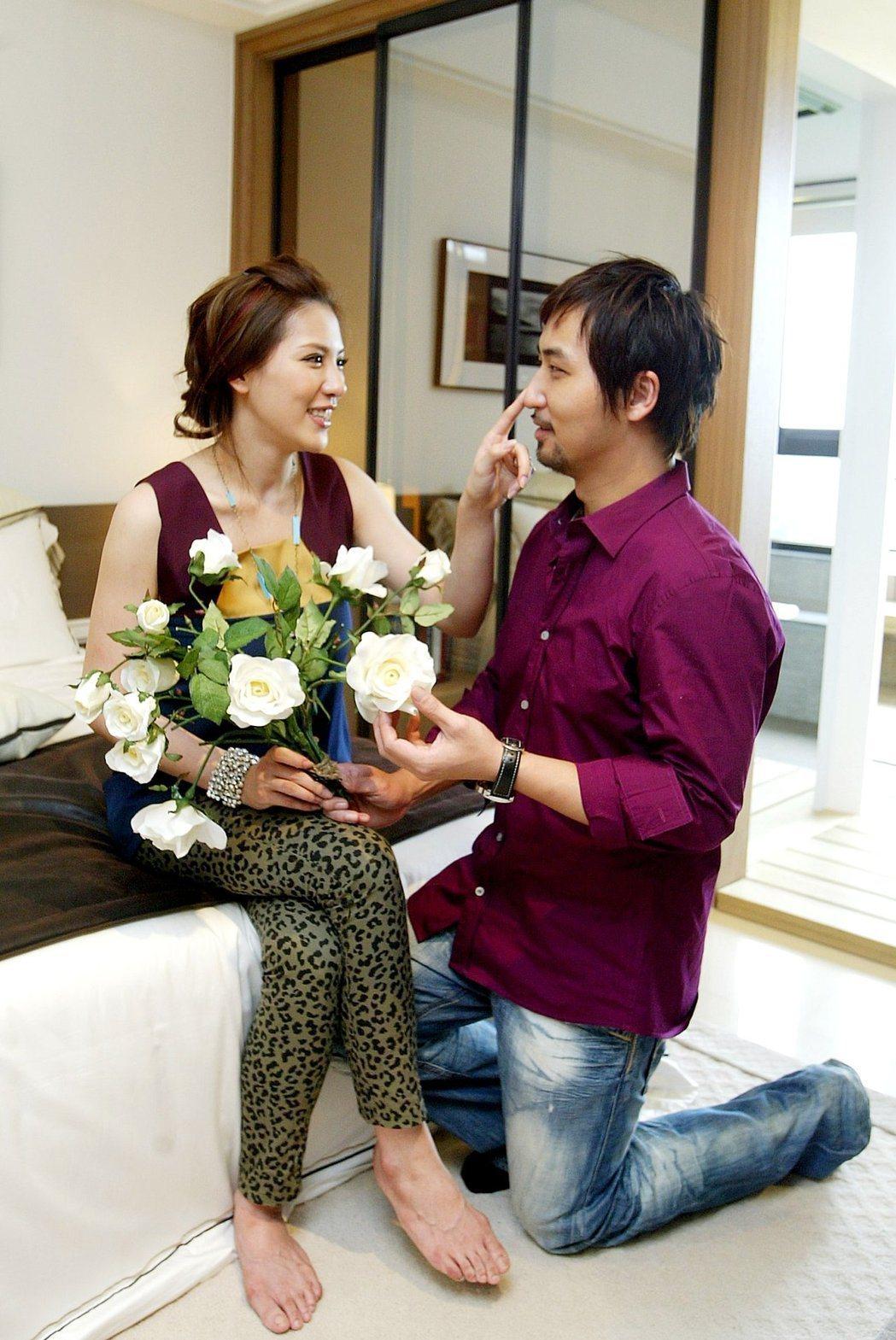 小禎(左)當年跟李進良曾是對甜蜜愛侶。圖/本報資料照