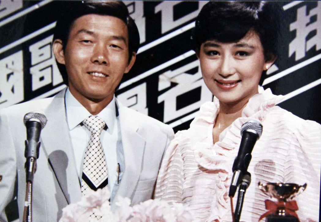 李季準早年主持名人歌唱排行榜。圖/李季準家屬提供
