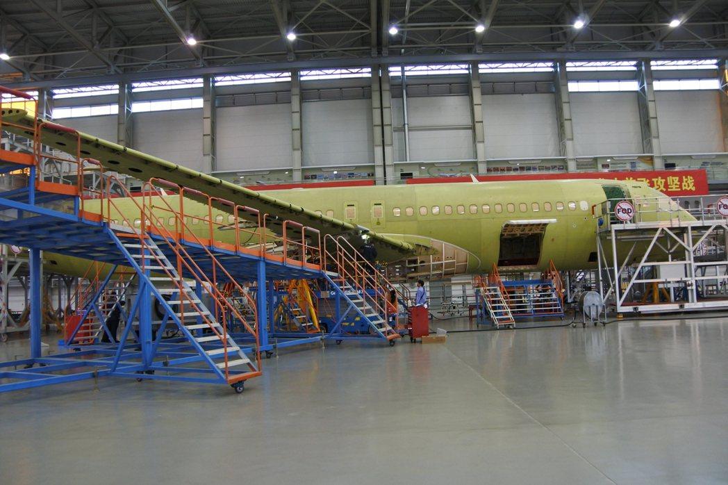 中國商飛C919客機總裝生產線。 記者杜宗熹/攝影