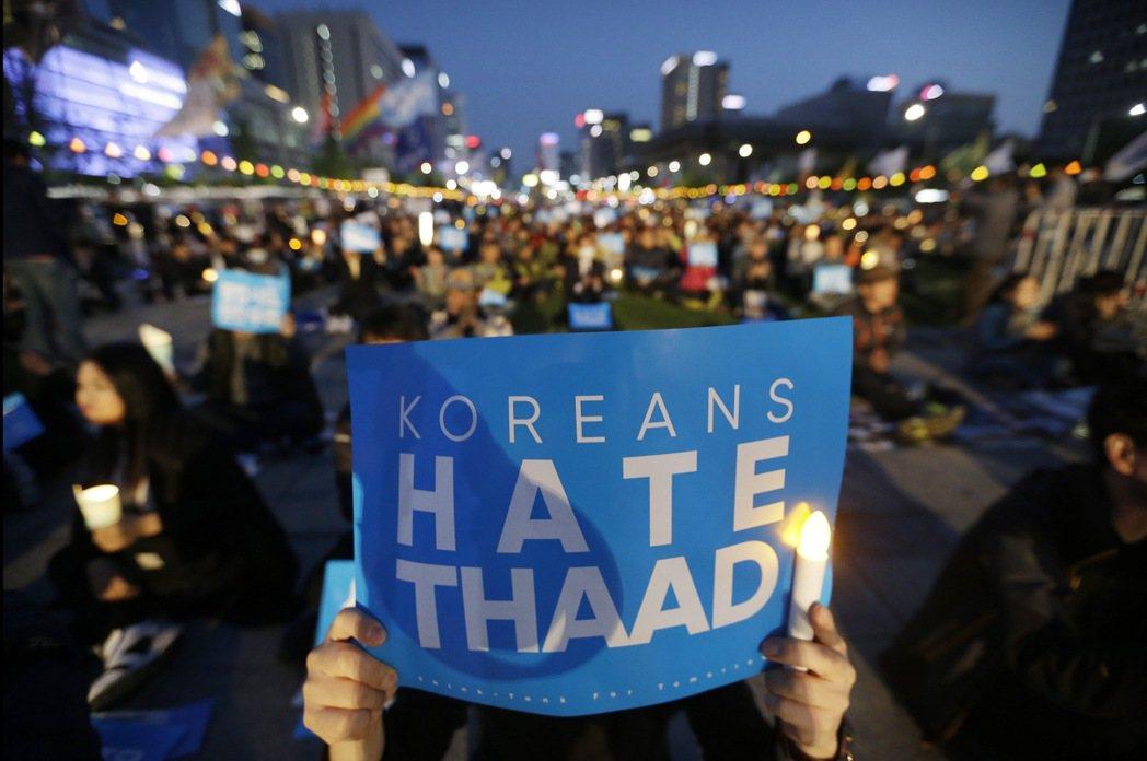 「我最關心國家安保議題,現在薩德要進來南韓了,這不就是要最優先要考慮的嗎…」圖為...